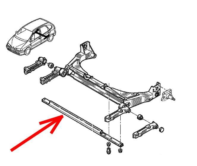 7700827178 - rear suspension cross beam
