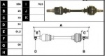 ECC32729L - Drive Shaft
