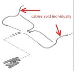 ECC474615 - Hand Brake Cable Left or Right