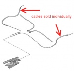 ECC474616 - Hand Brake Cable Left or Right