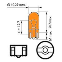 ECCCIT501A - Bulb Side Repeater Indicator Lamp Amber - 12v 5w