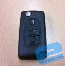ECCKS20 - Citroen Peugeot 3 Button Key Casing