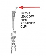 ECC198270 - Retaining Clip Injector Leak Off