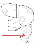 SP 55190687 - Belt Cover Lower